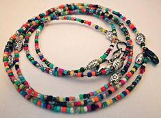 Hand made DIY boho seed bead bracelet / necklace / choker