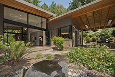 Mercer Island, Fill your senses with the poetry of a Frank Lloyd Wright inspiration. A symphony perfectly orchestrated. Every window frames the beauty of the striking landscaping beyond. Custom created using only the finest of finishes. Take your time ~ so much to see.