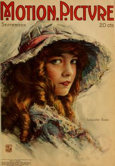 Lillian Gish on the cover of Motion Picture Magazine, September 1918