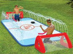 Water Hockey: Coolest outdoor kids toy ever! Slip N' Slide Water Knee Hockey Rink Wham-O. Outdoor Games, Outdoor Fun, Outdoor Toys, Outdoor Stuff, Fun Games, Activities For Kids, Indoor Activities, Party Activities, Summer Fun