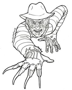 Horror, Coloring and Coloring pages on Pinterest