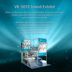 The WOW Factor VK-5035 Island Exhibit. This display is a stand out at any tradeshow! Available for rental or purchase. Visit us today http://www.camelbackdisplays.com/thewowfactor.html
