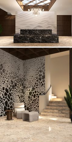 Inspirational Wallpapers, Luxury Interior Design, Wall Murals, Luxury Homes, Abstract Art, Stairs, Space, Elegant, Home Decor
