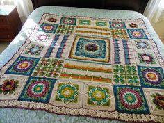 Crochet Ideas, Crochet Patterns, Poldark 2015, Central Square, Demelza, A Hook, Ravelry, Squares, Bohemian Rug