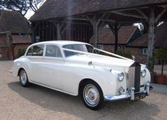 Rolls Royce Silver Cloud...dream transportation for our wedding.