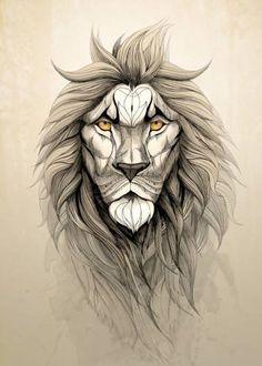 The Lion by Rafapasta CG | Displate