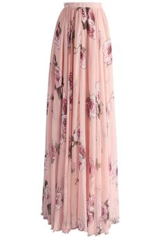 Pink Rose Panache Maxi Skirt - Skirt - Bottoms - Retro, Indie and Unique Fashion Modest Outfits, Skirt Outfits, Dress Skirt, Dress Up, Waist Skirt, Modest Clothing, Summer Outfits, Unique Fashion, Modest Fashion