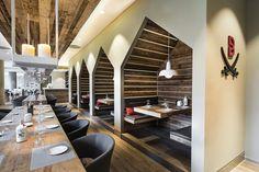 BREUNINGER - SANSIBAR Restaurante con Diseño tradicional. DITTEL | ARCHITEKTEN, Düsseldorf ~ Espacio Retail. Diseño de tiendas. Marcas de moda. Retail. Blog de moda. Tiendas Ecoeficientes