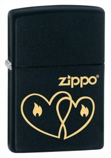Hearts Zippo lighter now available from Zippo UK now only £17.50 Black Matte. Packaged in an environmentally friendly gift box. Lifetime Guarantee.