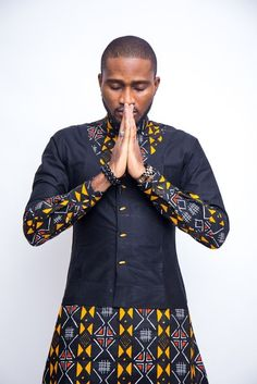 Ankara Button Down Shirt/ Mens Clothing/ Prom Men/ African Print Clothing/ Wedding guest outfit/ African Groom/ Grooms men Clothing/ Dashiki African Shirts For Men, African Dresses Men, African Attire For Men, African Clothing For Men, African Wear, African Style, Traditional African Clothing, Ankara Clothing, African Women