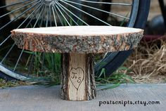 11 Rustic Wood Tree Slice Cake Stand Pedestal for cheese/dessert table