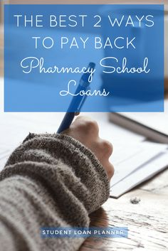 Anyone who went to pharmacy school should use these tips to save money on their pharmacy school student loans