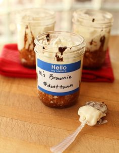 Ancho Brownie Baked In A Jar l Scarletta Bakes