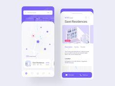 Homie App for Real Estate designed by tantriono s for Sobat Studio. Connect with them on Dribbble; App Ui Design, User Interface Design, Web Design, Design Layouts, Flat Design, Mobile App Ui, Apps, Ui Inspiration, Mobile Design