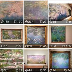 Art Now makes it abundantly clear that Monet indeed was crazy about his water lilies. During 25 years he obsessively painted more than 250 water lily motifs in his home in Giverny, France. Some of these paintings are now available on display in e.g. #nelsonatkins #stlartmuseum #clevelandmuseumofart #artinstitutechi #dallasmuseumart #mfahouston #moma #lacma Art Now searches Instagram for art. Try it! #museum #art #waterlilies #waterlillies #nympheas #thewaterlilypond #monet #claudemonet…