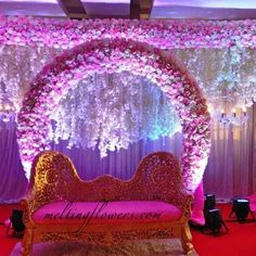 Contact Us For Decorating Your Wedding Or Across South India. Engagement Decorations, Stage Decorations, Flower Decorations, Wedding Decorations, Best Wedding Venues, Wedding Locations, Indian Wedding Stage, Marriage Decoration, South India