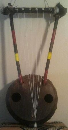 East African-style bowl lyre (ndongo) by PanAfricanArts on Etsy