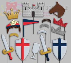 Prince Party Photo Booth Props Knight Castle by IraJoJoBowtique