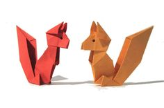 Origami Squirrel - Tutorial - How to make an origami squirrel The easiest way to make an origami Squirrel! A super easy origami squirrel! Semplicissimo scoia...