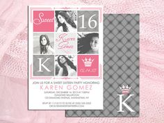 Sweet 16 or Sweet 15 Birthday Party Invitation by MrsInvitation, $15.00