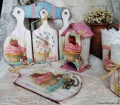 decoupage for kitchen Tole Decorative Paintings, Tole Painting, Painting On Wood, Decoupage Box, Decoupage Vintage, Wood Crafts, Diy And Crafts, Arts And Crafts, Diy Y Manualidades