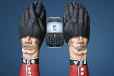 Superb hand art from the infamous body artist Guido Daniele for the mobile network AT&T.