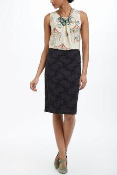 Alva Lace Pencil Skirt - Anthropologie.com