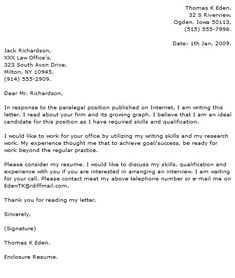 Administrative Assistant Cover Letter Example  Cover Letter