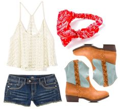 Dress like a concert cutie! Country gals will be cute and comfy in crochet and cowboy boots.