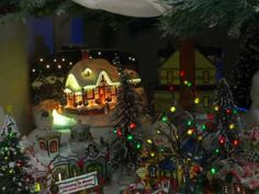 Lemax Village in 8 ft. Christmas Tree - 2007