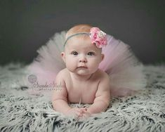 size, Baby tutu, Pink tutu, birthday tutu, Selena Cream Pink flower gray glitter headband & tutu set photography prop Oh. 3 Month Old Baby Pictures, 6 Month Baby Picture Ideas, Baby Girl Pictures, 6 Month Old Baby, Newborn Pictures, 6 Month Photos, Newborn Pics, Baby Monthly Pictures, Baby Monat Für Monat