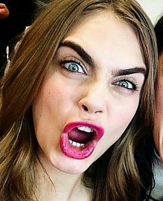 The greatest;  Cara Delevingne.