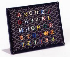 Goyard monogram options- I love the range of colours available. #Goyard #monograms