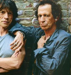 Keith Richards with Mick Jagger