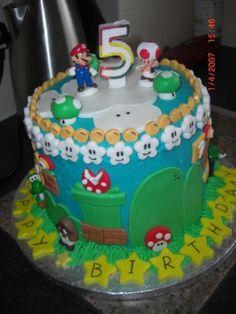 Mario world cake