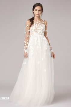 30 Stunning Long Sleeve Wedding Dresses - Bridal Musings Anna Kara Gown