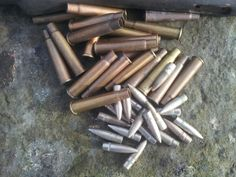 .303 British brass and bullets ready for conversion to WWI commemorative pens by www.pomd.co.uk
