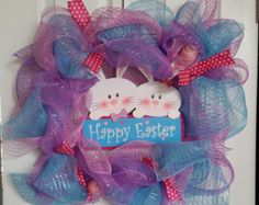 Easter Wreath by Emilyscraftnook on Etsy