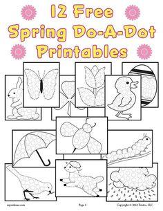 12 FREE Spring Do-A-Dot Printables!