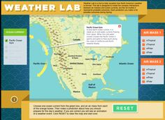 Free Technology for Teachers: Smithsonian Weather Lab - Learn About Weather Patterns and Make Forecasts This is an activity much a game that helps students understand forecast. Teaching Weather, Weather Science, Weather Activities, Weather And Climate, Science Activities, Weather Unit, Science Ideas, Science Lessons, Science Experiments