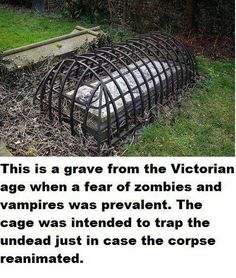 NO! NONONO! This is ABSOLUTELY UNTRUE. First of all, Victorians would not have known what a modern zombie is. Zombies as we know them today were invented by George Romero. Vampires wouldn't have been feared because they were largely an Eastern European folktale until Dracula was published in 1897 (the very end of the Victorian era). Victorians would have feared grave robbers most of all. These were used to keep HUMANS from getting IN, not the UNDEAD from getting OUT.