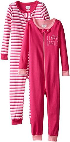 The Children's Place Little Girls' 2-Pack Stripe Stretchie >>> You can get more details at