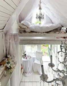 It's very white and clean and dreamy...