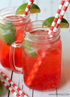When I spotted this copycat Sonic cherry limeade recipe at Lil' Luna, I knew I had to share it here. It seemed like a perfect concoction to enjoy on a sunny summer day. I also knew I would h… Kid Drinks, Non Alcoholic Drinks, Summer Drinks, Beverages, Summer Fun, Cherry Limeade Recipe, Sonic Cherry Limeade, Cherry Vodka, Sonic Limeade Recipe