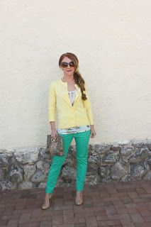yellow and green for spring