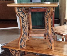 Western Style End Table By JosWoodGallery On Etsy