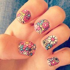 Imágenes de uñas con diseños juveniles | Decoración de Uñas - Manicura y Nail Art