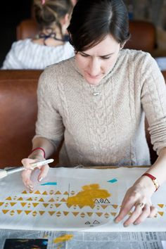 Stenciling no matter what. : Lotta Jansdotter
