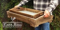 Our set of Deep Wood #Trays with tin bottoms are both functional and beautiful.