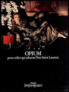 YSL Opium Perfume Jerry Hall Photo (1981)